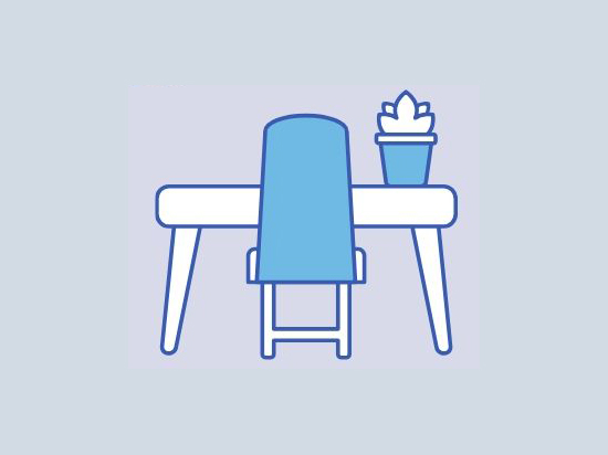 work-space desk icon
