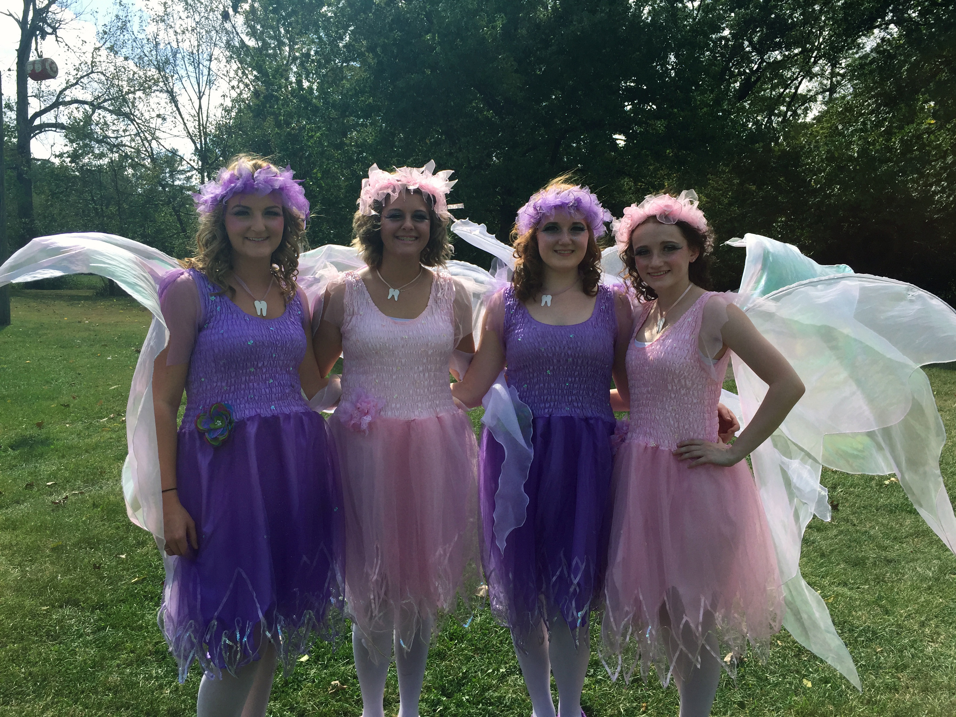Dental Assisting students dressed as tooth fairies.