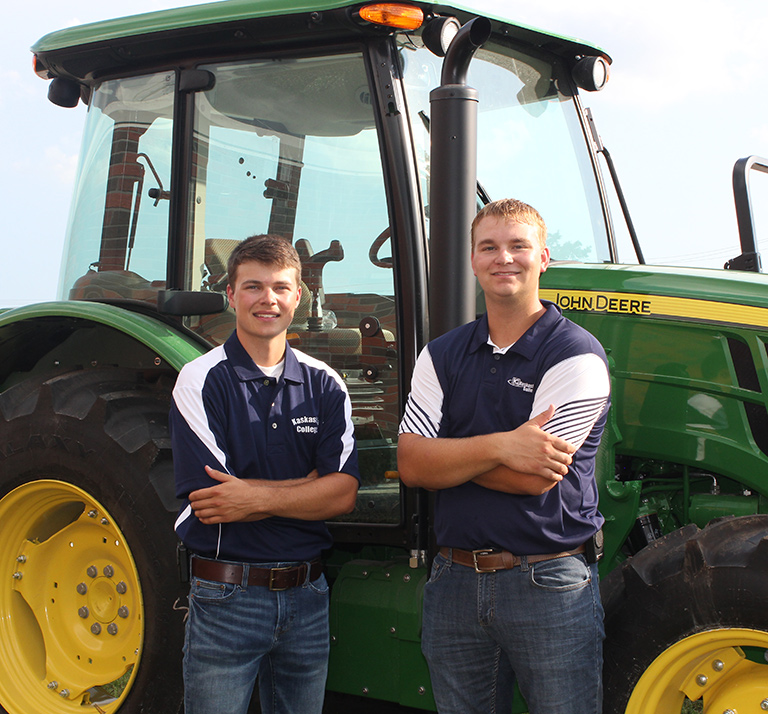 Agriculture Students with tractor